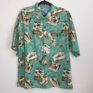 Bermuda Bay Mens Tropical Hawaiian Shirt